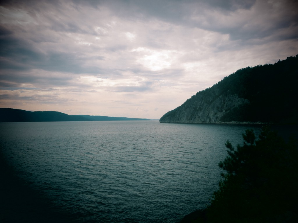 Le fjord du Saguenay depuis Sainte-Rose du Nord