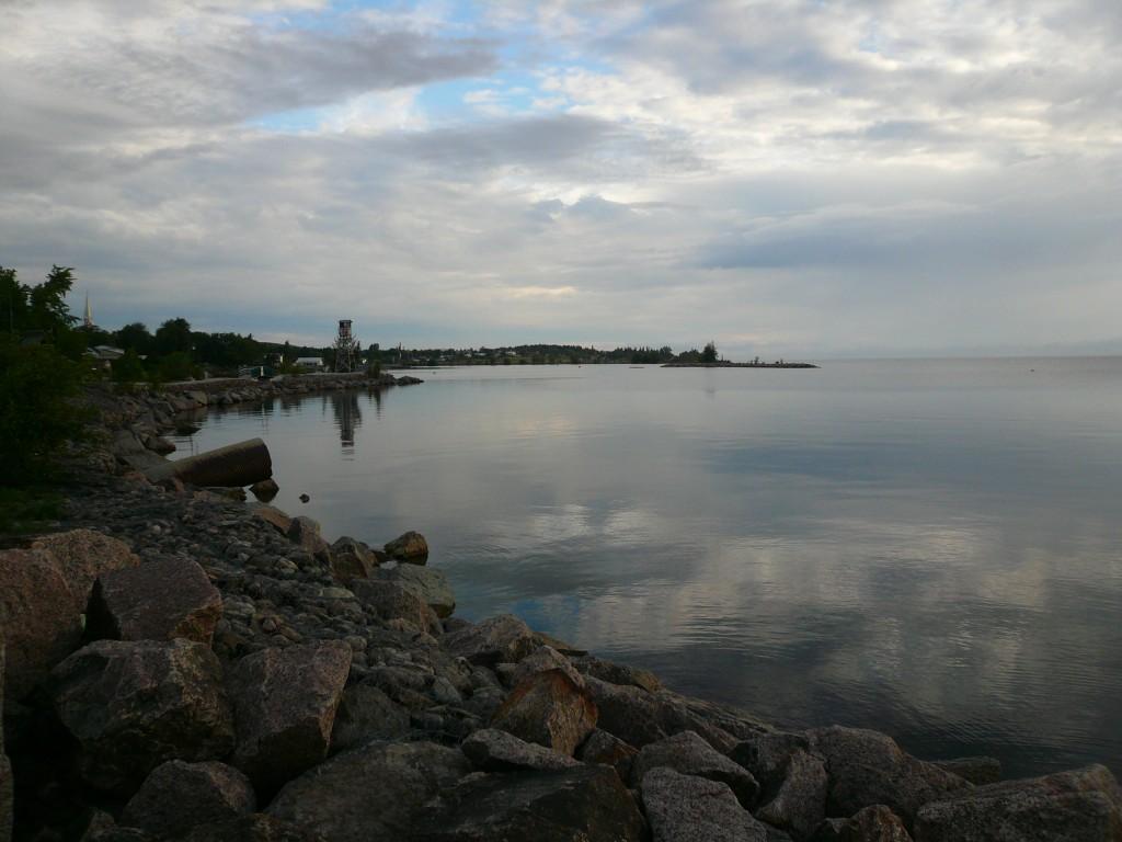 coucher de soleil sur le lac Saint-Jean (Québec)