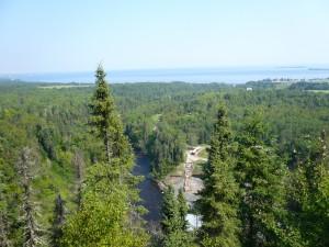 panorama sur le lac Saint-Jean depuis Val Jalbert ( Québec)