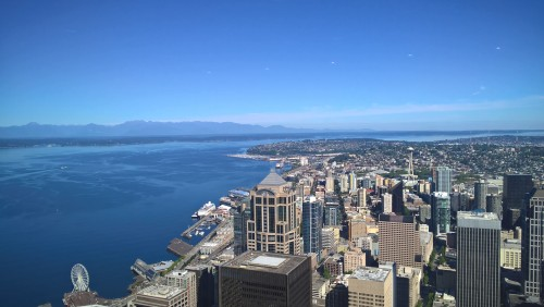 panorama sur Seattle depuis le Columbia Center