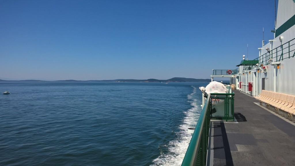 Sur le ferry - San Juan Islands aux USA