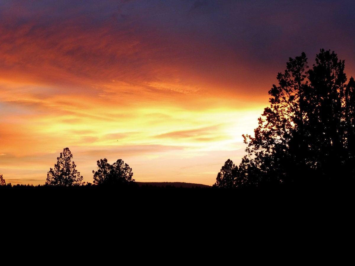 coucher de soleil dans l'Oregon