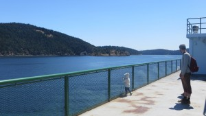 sur le ferry - San Juan Islands - USA