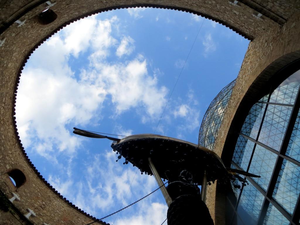cour du musée Dali à Figueras