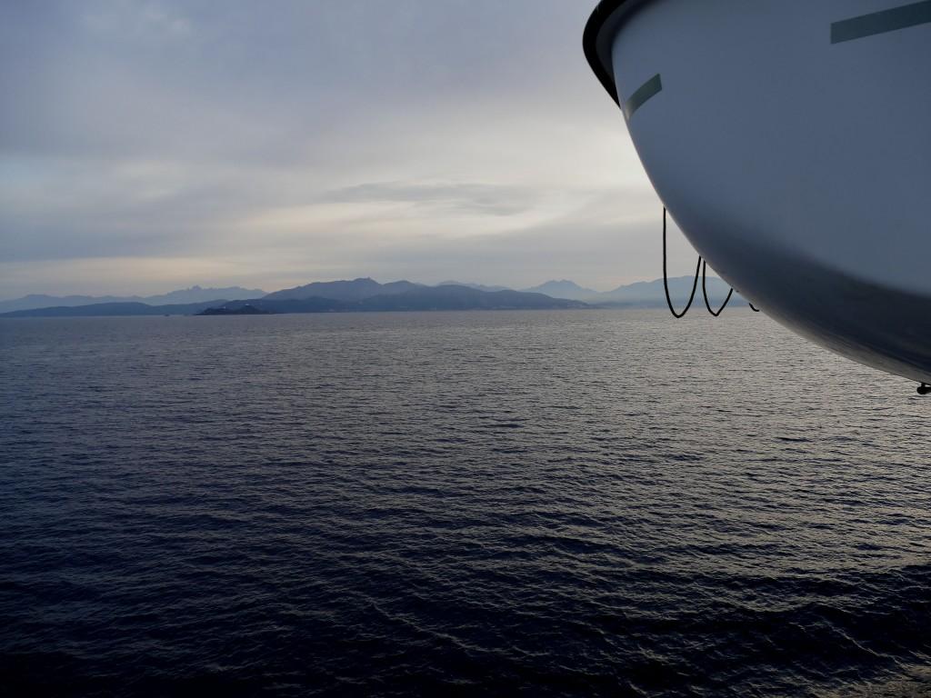 La Corse depuis le ferry
