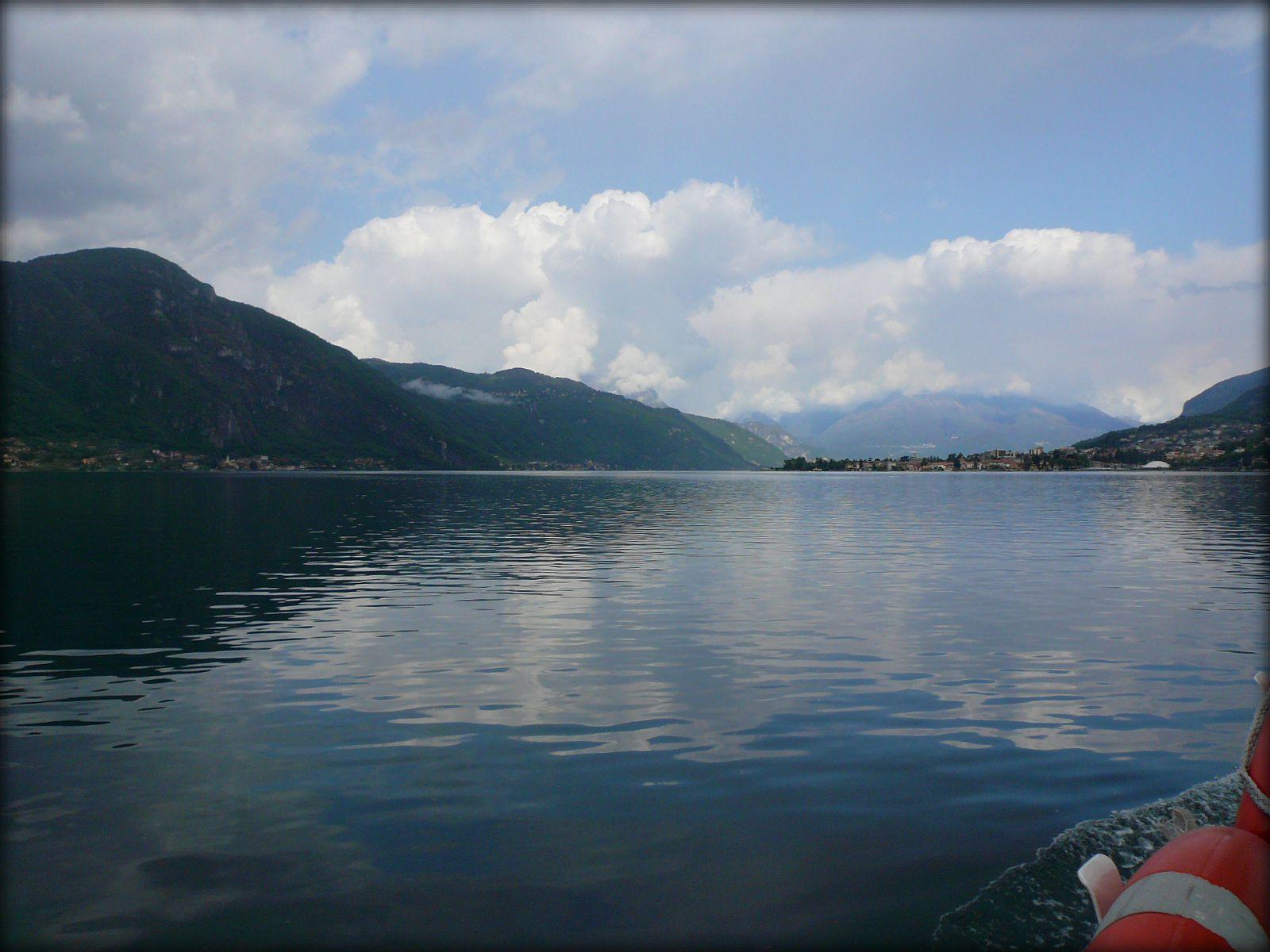 Lac de come depuis le bateau