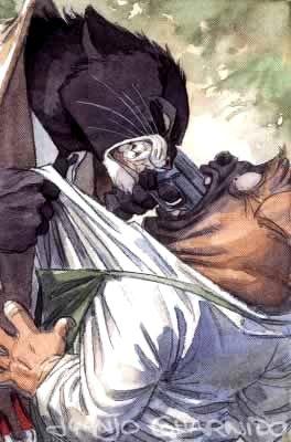 dessin tiré de Blacksad de Juan Díaz Canales et Juanjo Guarnido.