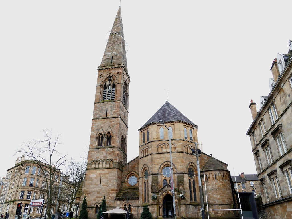 église dans les rues de Glasgow