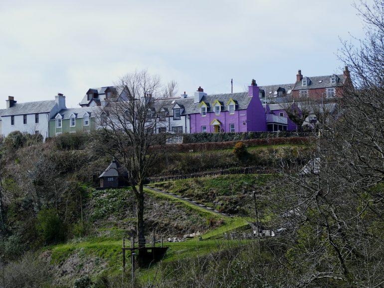 maison violette dans Tobermory - île de Mull