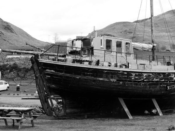 bateau abandonné - Oban (Ecosse)