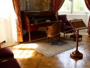 bureau dans le château de Hautefort en Dordogne