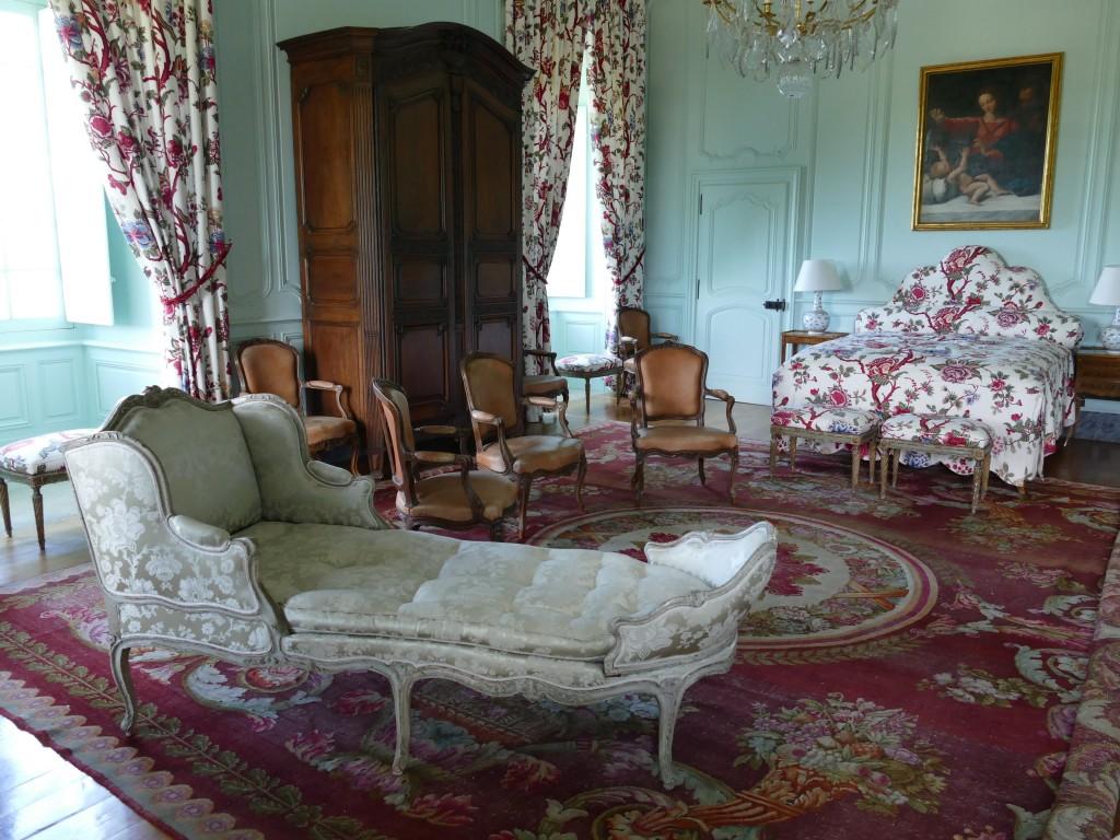 salon dans le château de Hautefort en Dordogne