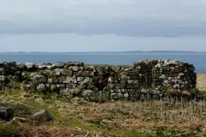 ruines de maison sur l'île de Lunga (Ecosse)