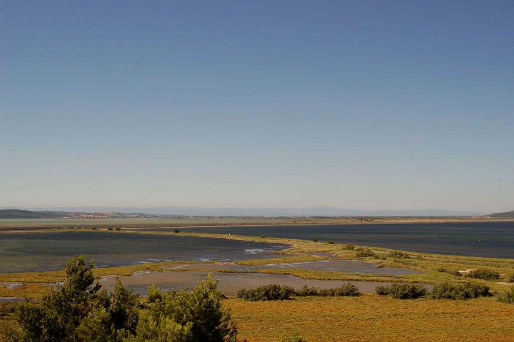 panorama depuis la presqu'île de Sainte-Lucie dans l'Aude