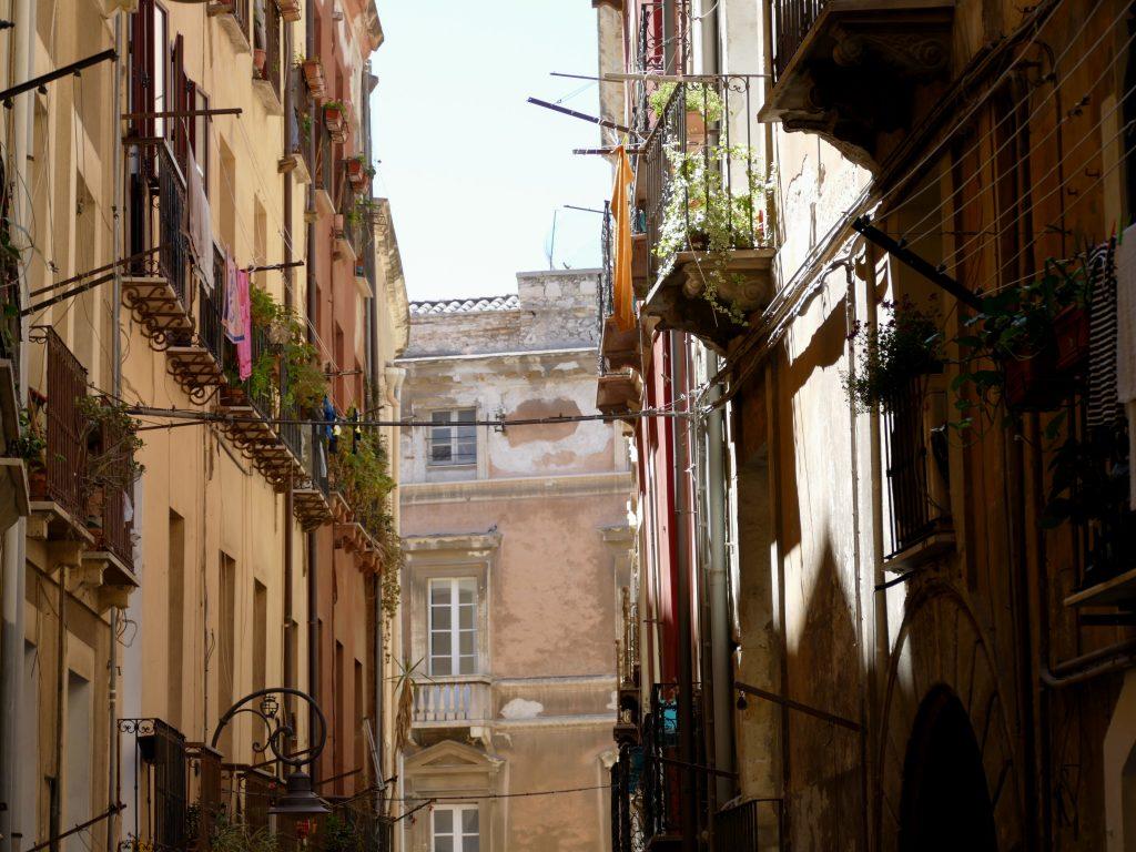 rue de Cagliari en Sardaigne