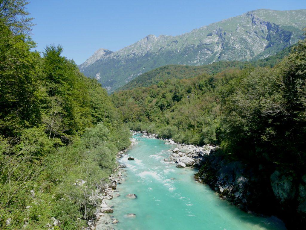 La Soča au niveau de Kobarid (Slovénie)