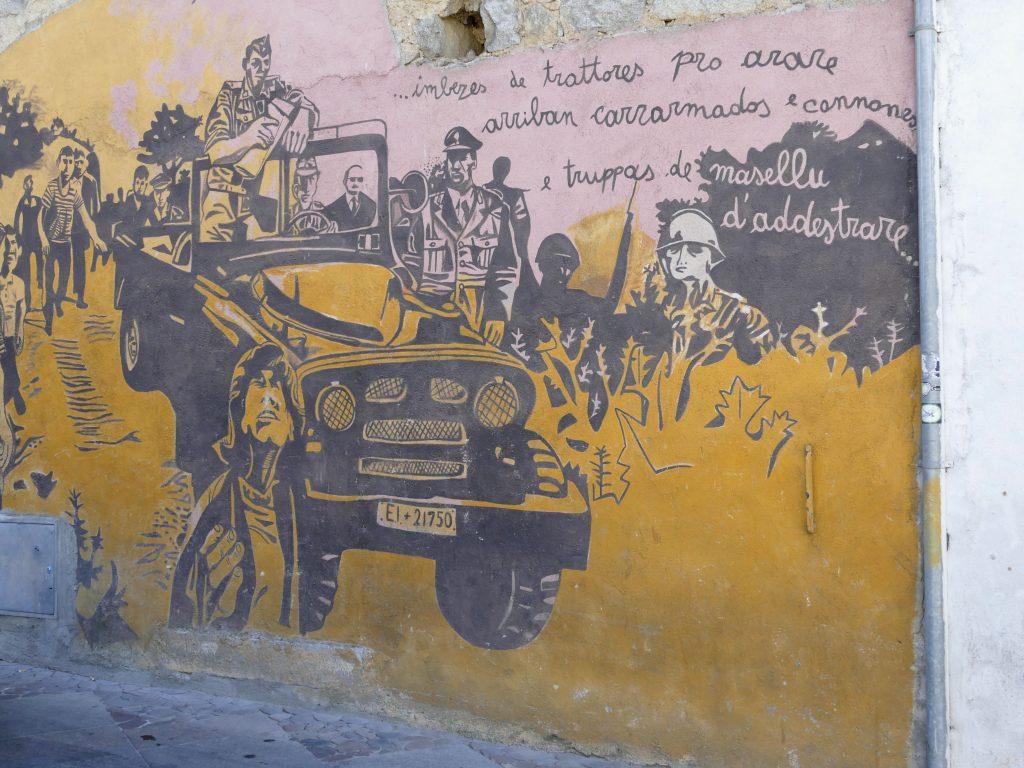 peinture sur les murs d'Orgosolo en Sardaigne
