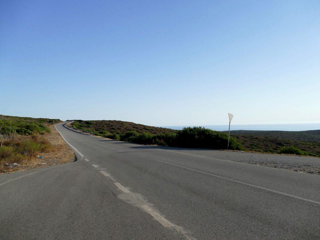 route entre la Cala Domestica et Portixeddu en Sardaigne