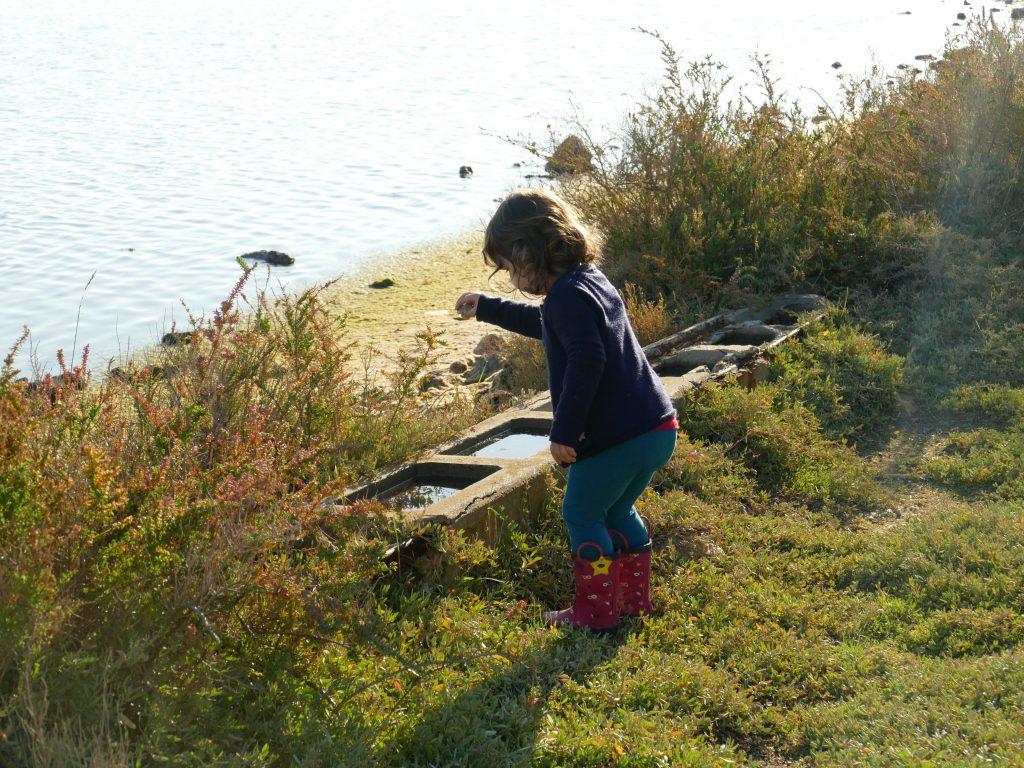 enfant dans un paysage des Aresquiers - Hérault