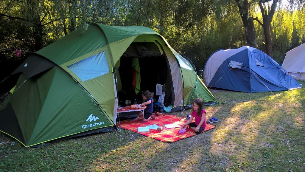 notre tente au camp Vili