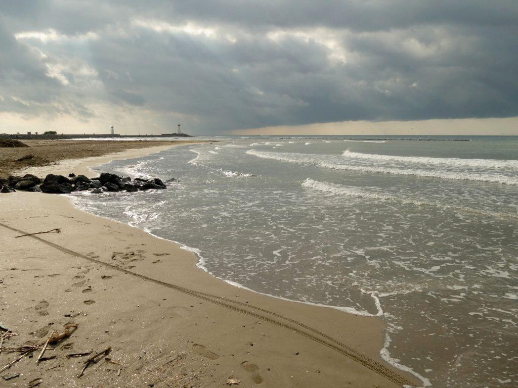 plage de la tamarissière l'automne