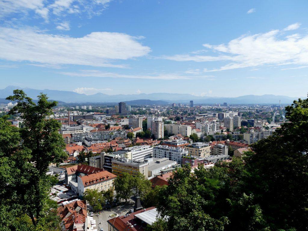 Vue depuis le chateau de Ljubljana