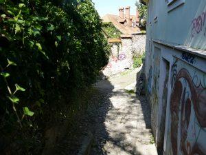 escaliers qui relie le centre deLjubljana et le chateau