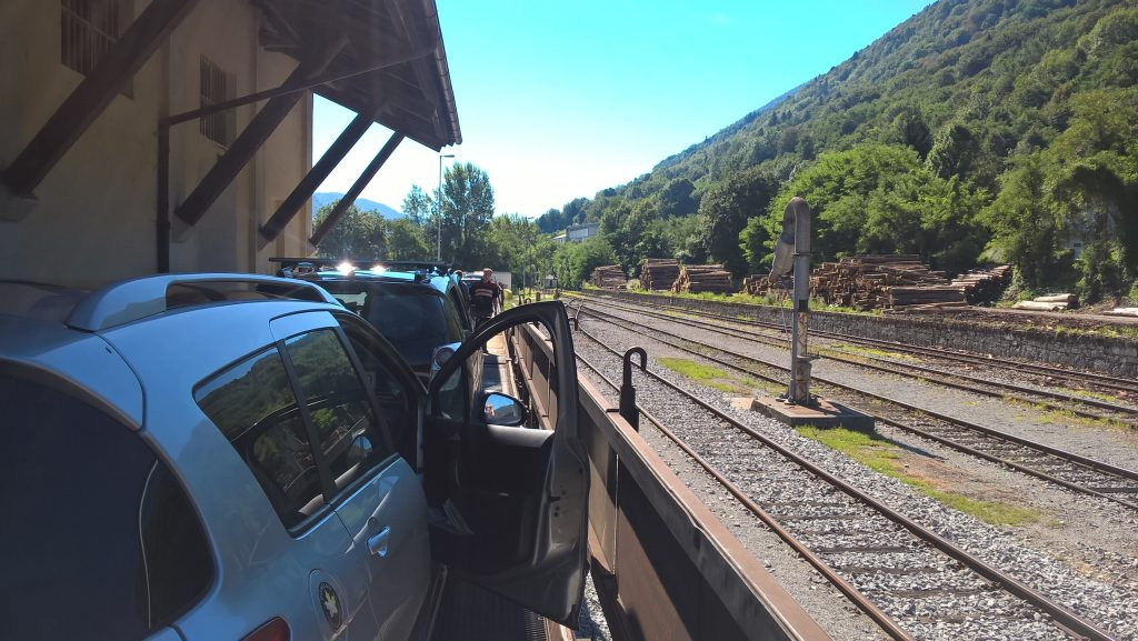 train voiture entre Most-Na-Soci et Bohinj
