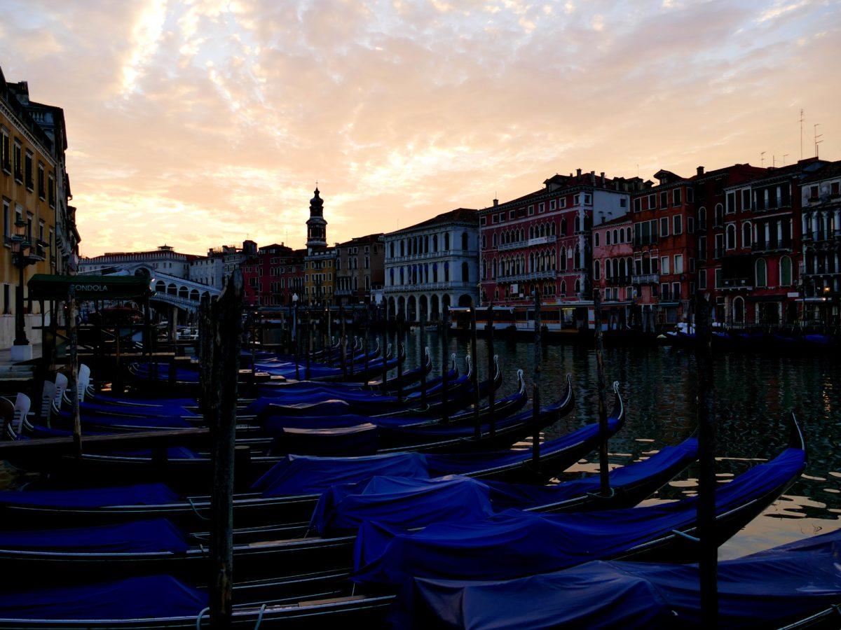 lever de soleil sur le pont du Rialto, Venise