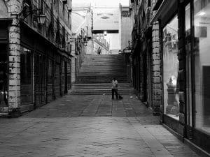 balayeur dans Venise