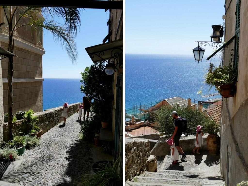 ruelles Cervo et vue sur mer - Liguria