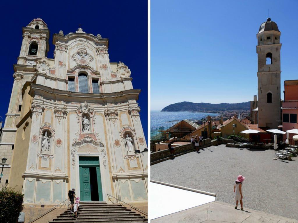 église et parvis de Cervo - Liguria