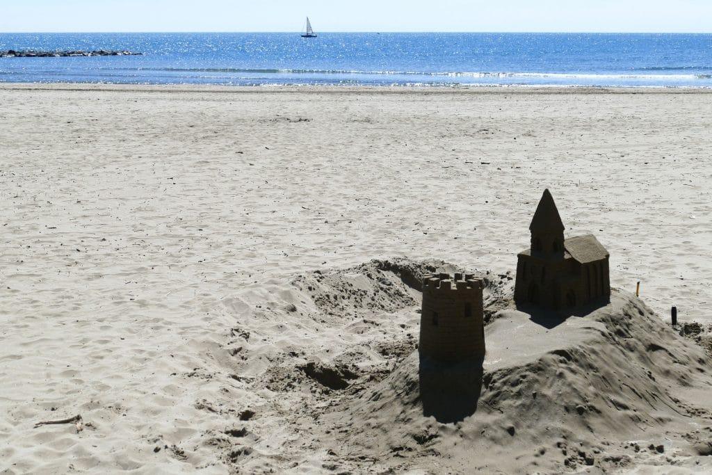 chateau de sable au grau d'agde