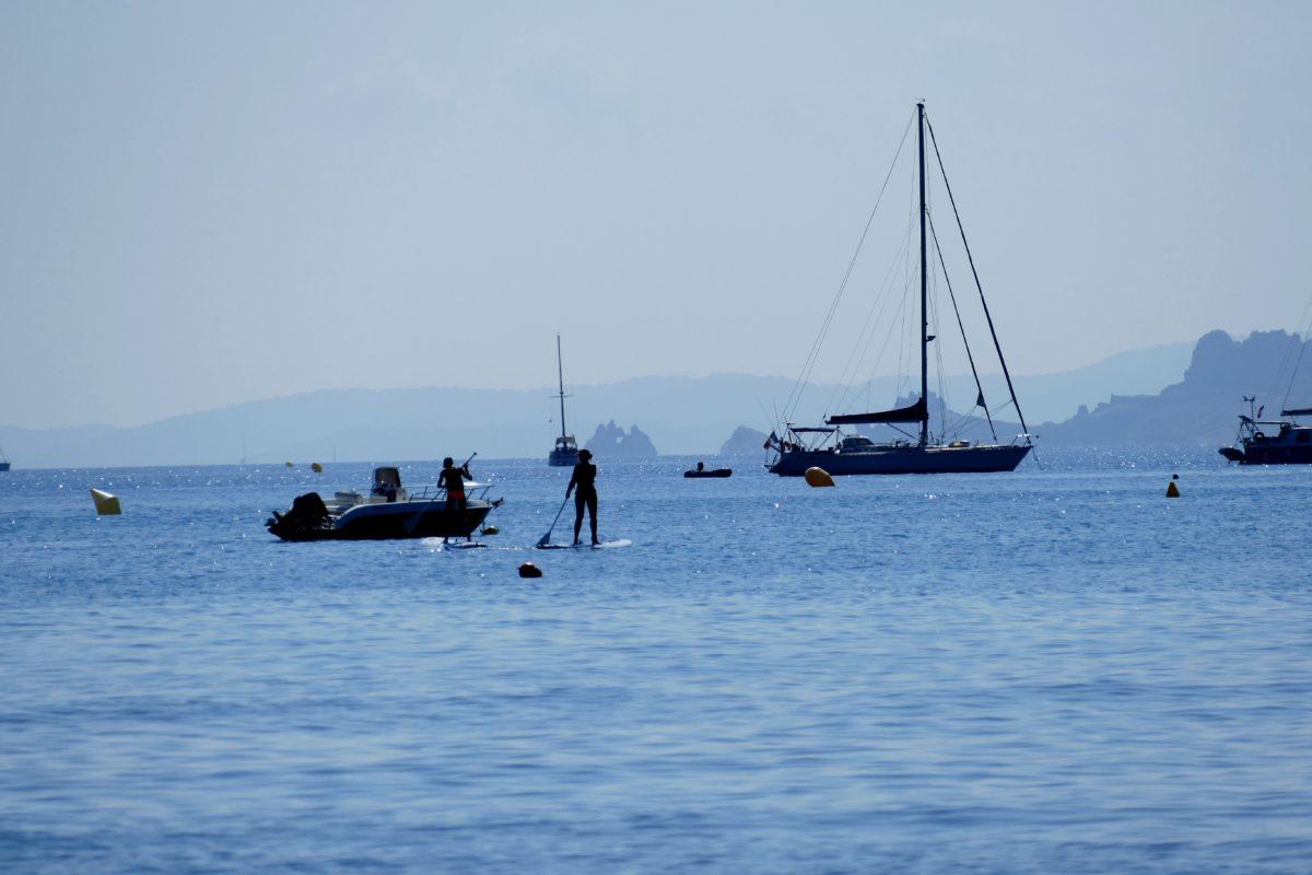 plage de la Badine sur la presqu'île de Giens