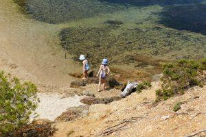 enfants sur la plage - Pointe du Grand Langoustier, Porquerolles