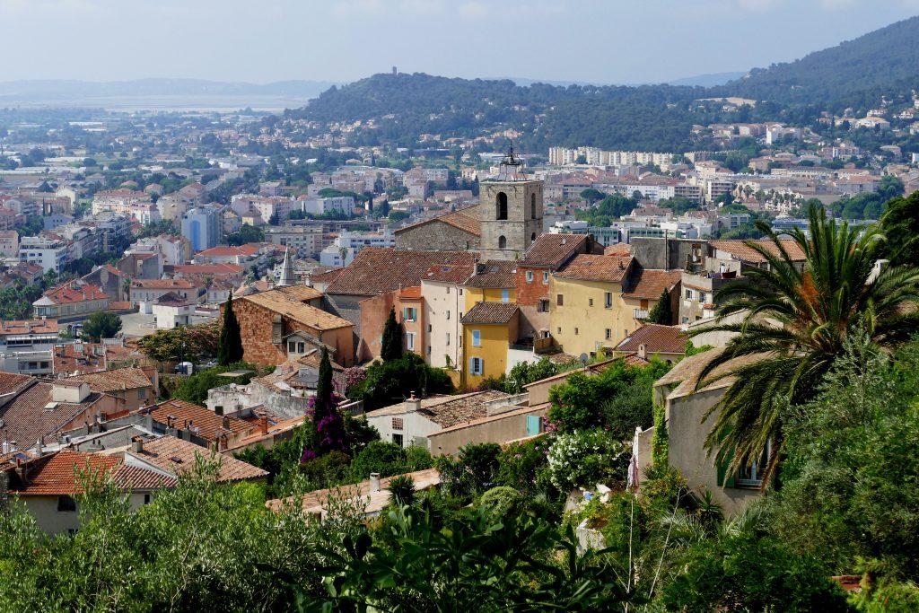 vue de Hyères depuis la villa Noailles