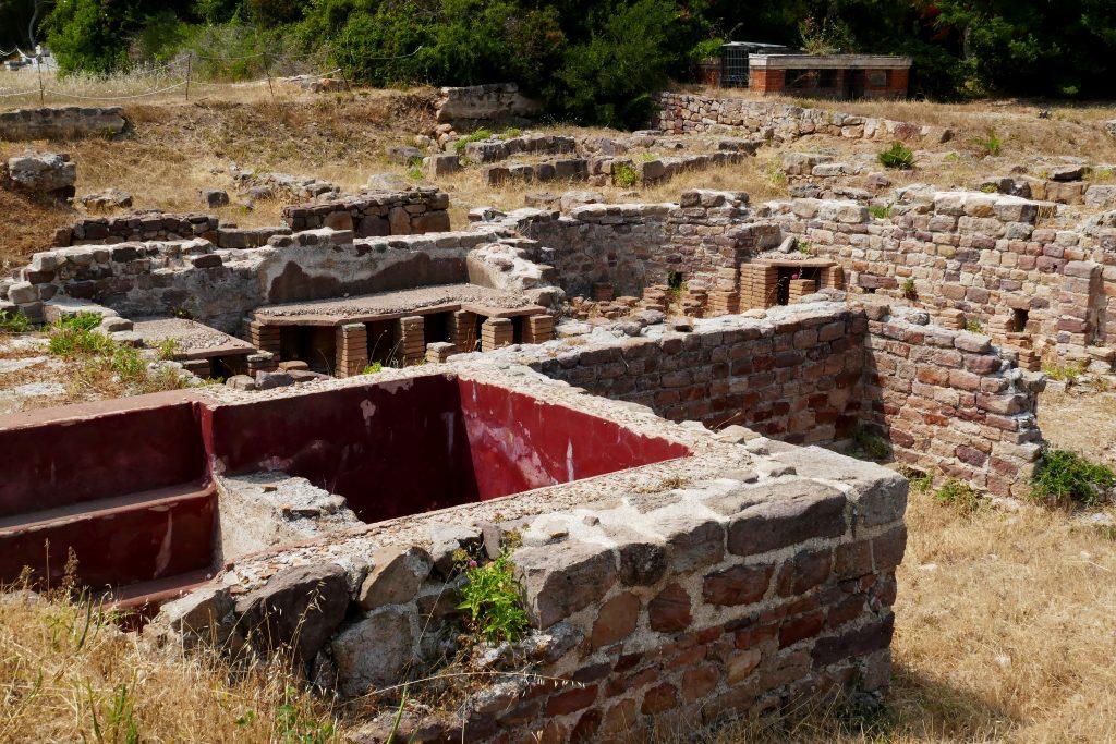 hypocaustes thermes d'Olbia, Hyères