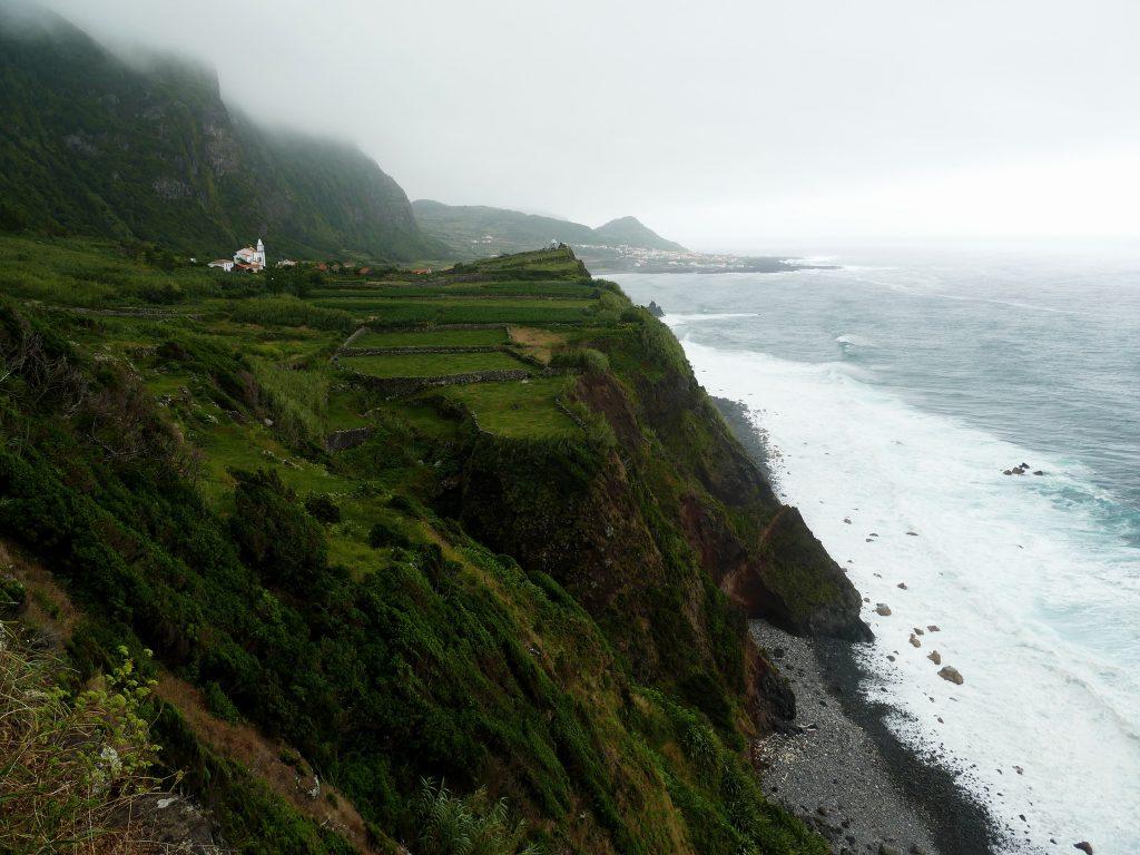 Paysage Sur le chemin entre Faja Grande et Ponta Delgada