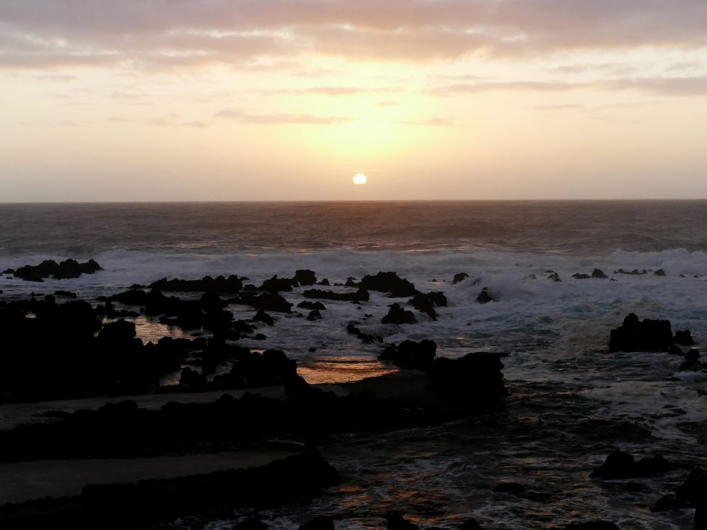 Coucher de soleil sur Faja Grande (Flores - Açores)