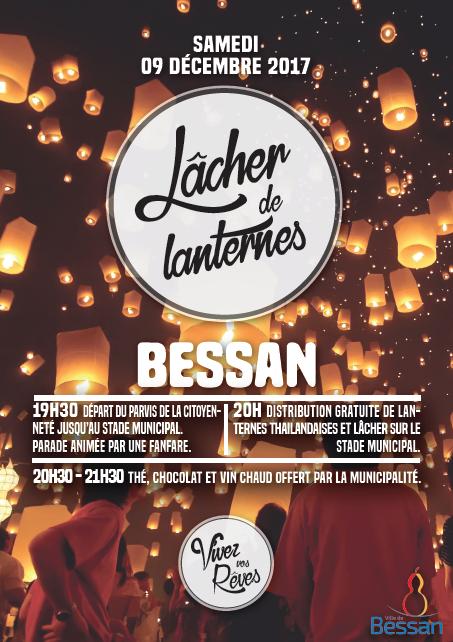 affiche lâcher de lanterne de Bessan