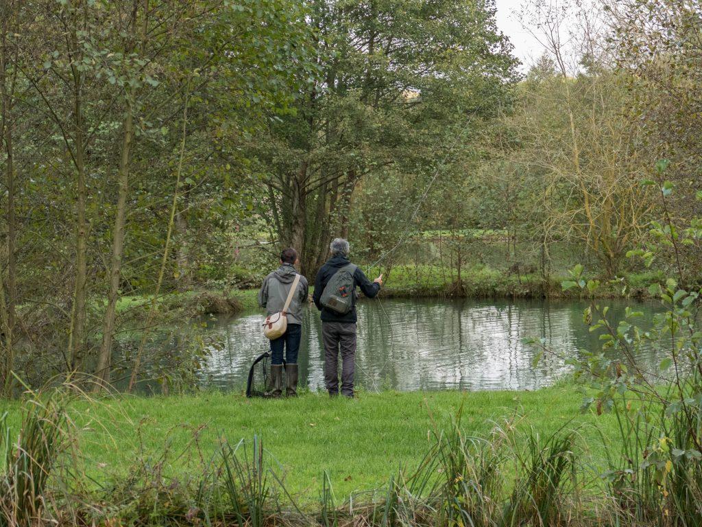 pêcheurs au moulin de Gémages - orne