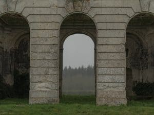 château en ruine de la ferté vidame