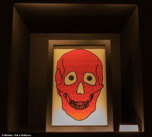 Crâne rouge de Gérard Adde