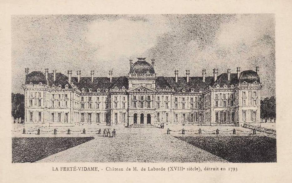 gravure du château de la ferté vidame en 1793