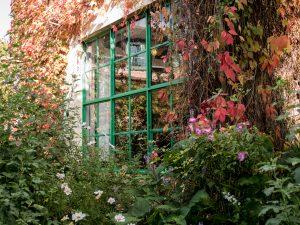 fenêtre de l'atelier de Claude Monet à Giverny