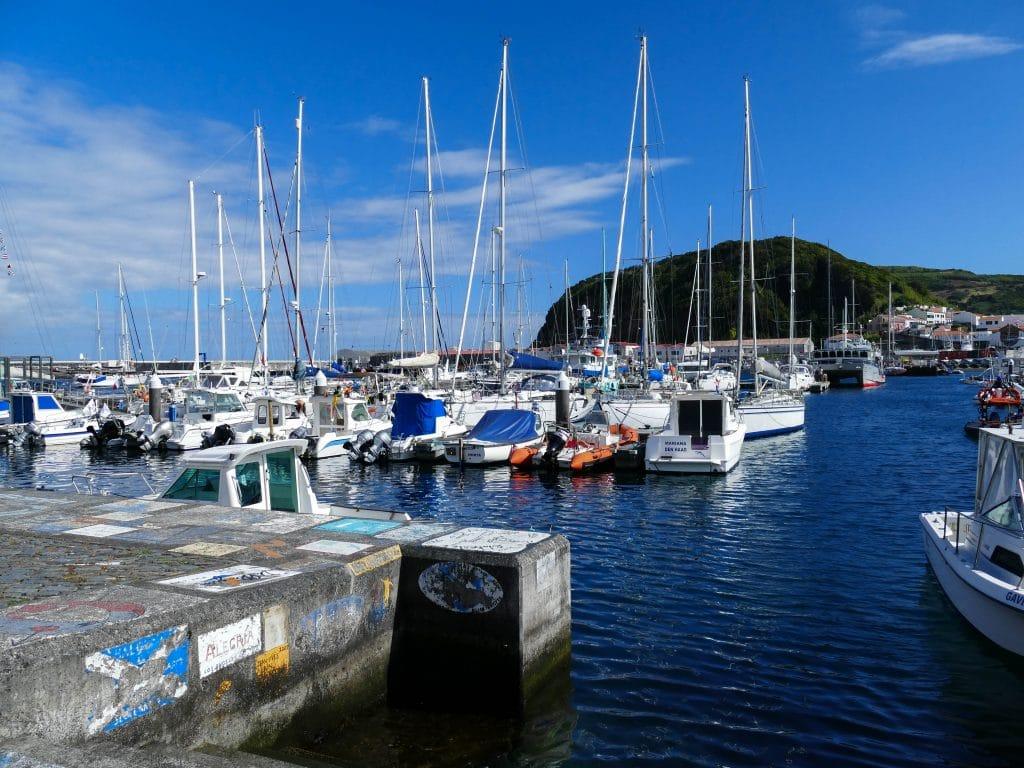 port d'Horta sur Faial (Açores)
