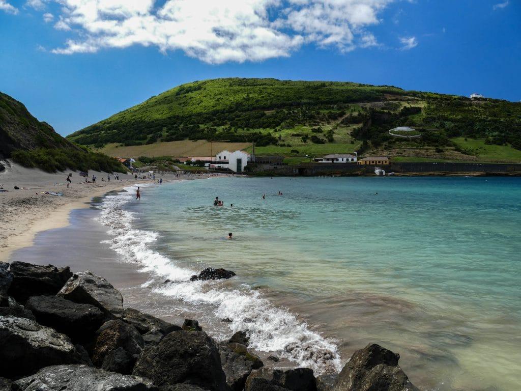 plage de Porto Pim à Horta (Faial)