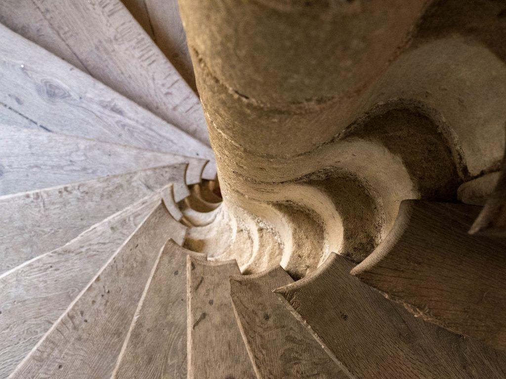 escallier - château d'Ussé à Rigny-Ussé
