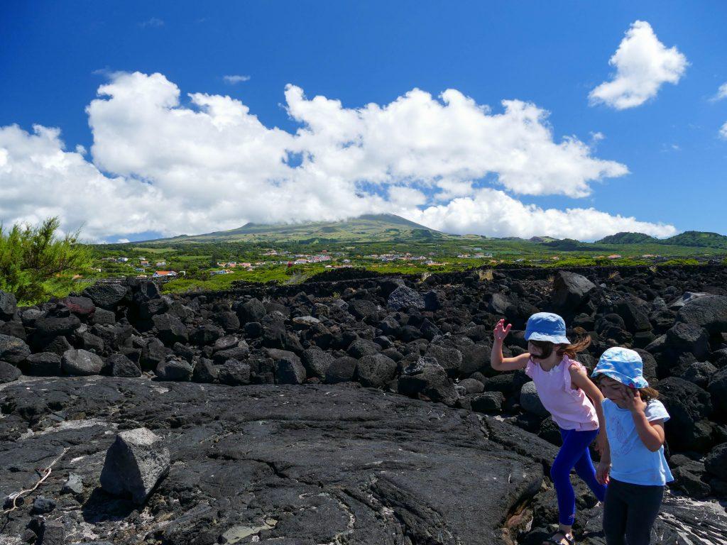 sur la lave de Pico aux Açores