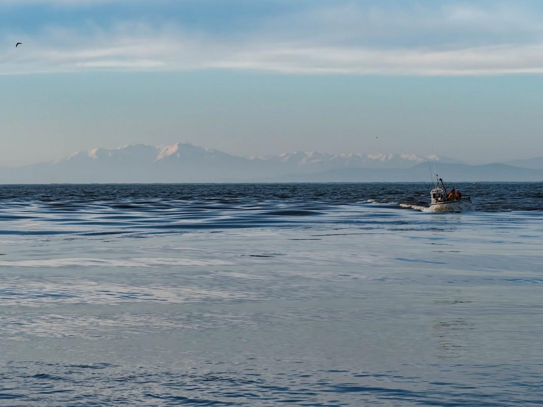 la mer depuis le Grau d'Agde